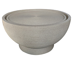 Harvey-Bowl-Fountain-Beige-Terrazzo