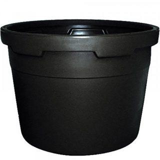Round advanced tub black