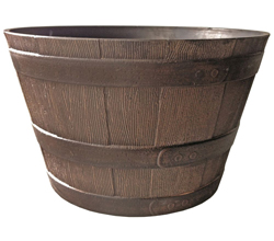 Whiskey barrel dark brown
